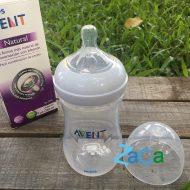 Bình sữa Avent Natural 260ml cho bé, mô phỏng tự nhiên