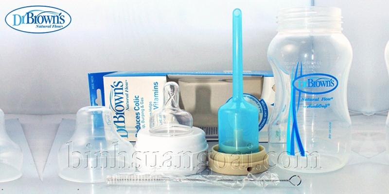 Cách rửa bình sữa Dr Brown