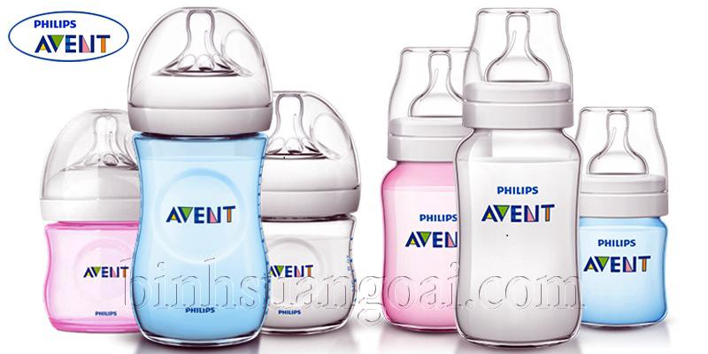 cách dùng bình sữa Avent