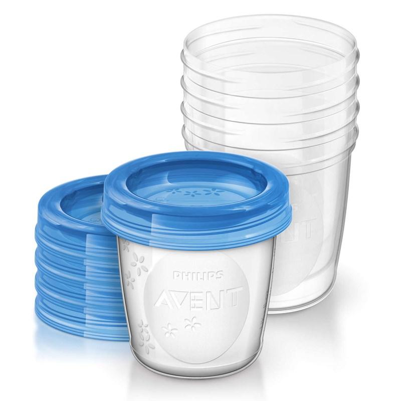 Bộ 5 cốc trữ sữa VIA Avent Philips 180ml