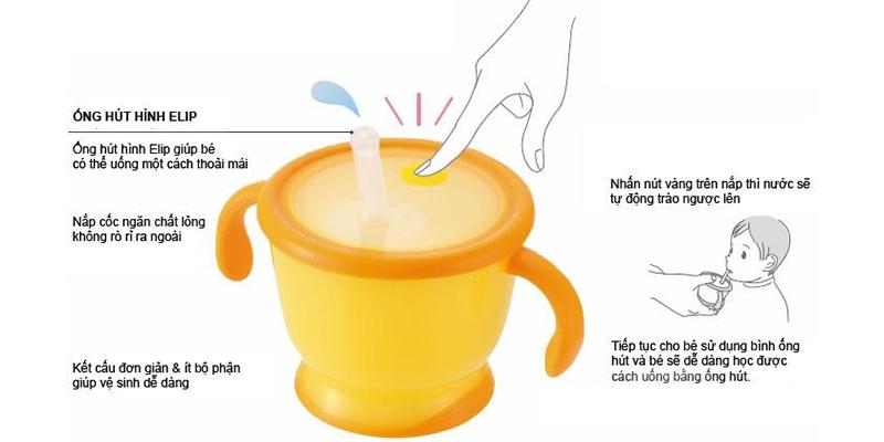 cốc tập uống nước cho bé