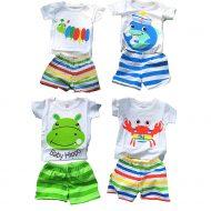 4 bộ quần áo có tay trẻ sơ sinh, cotton 100% mẫu NBT