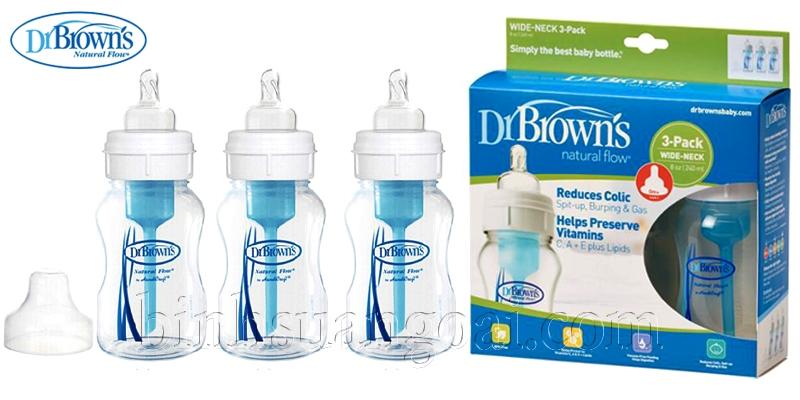 bộ 3 bình sữa dr brown