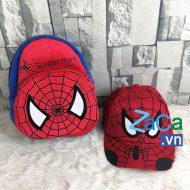 Bộ balo và nón người nhện spider man