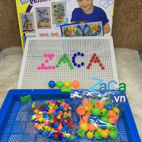 Bộ đồ chơi ghép hình hạt nấm CREATIVE MOSAIC 296 hạt