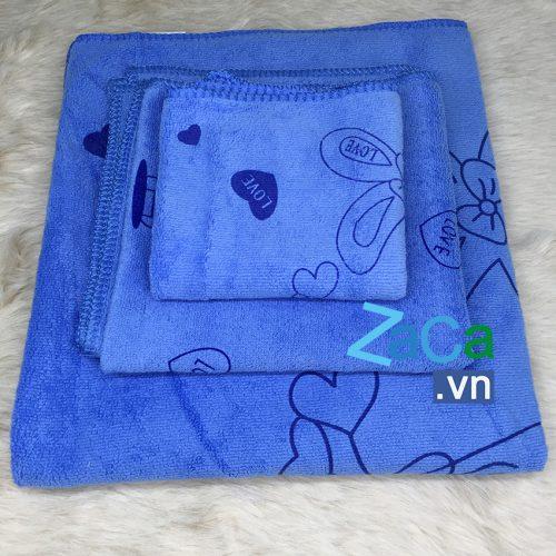 Bộ 3 khăn lay mặt, lau đầu, lay mình Kiba Thái Lan