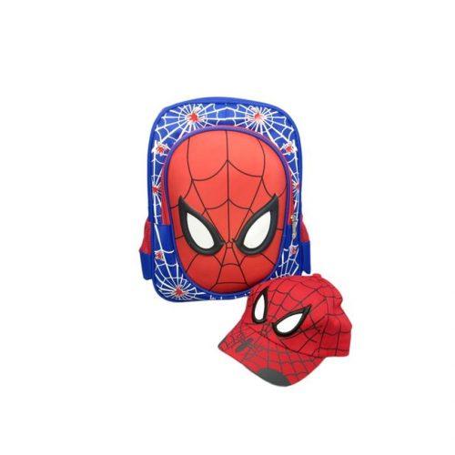 Bộ balo và nón người nhện spider man dành cho bé đi đến trường
