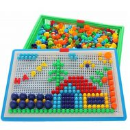 Bộ đồ chơi ghép hạt nấm nhựa Creative MOSAIC 296 hạt