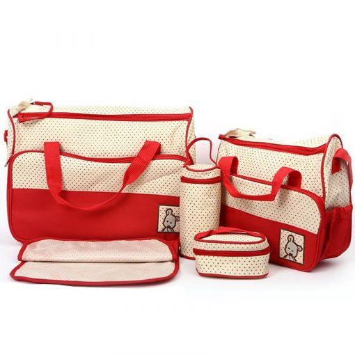 Bộ túi 5 chi tiết đa năng giá rẻ dành cho mẹ và bé khi đi ra ngoài