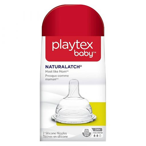 2 Núm ty M bình sữa Playtex cổ rộng rời, chính hãng