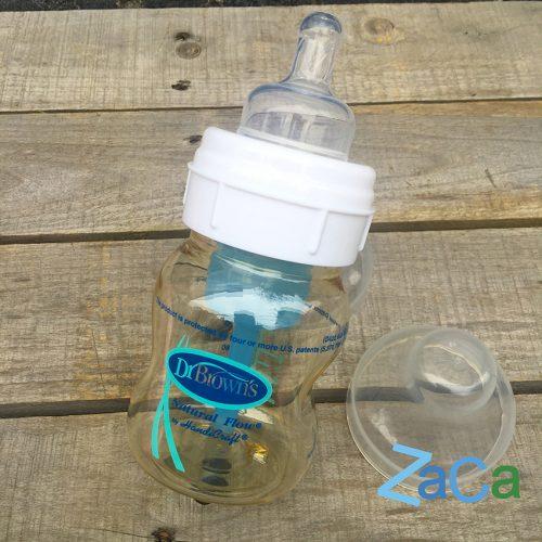 Bình sữa Dr Brown cổ rộng 120ml nhựa PES cao cấp mật ong