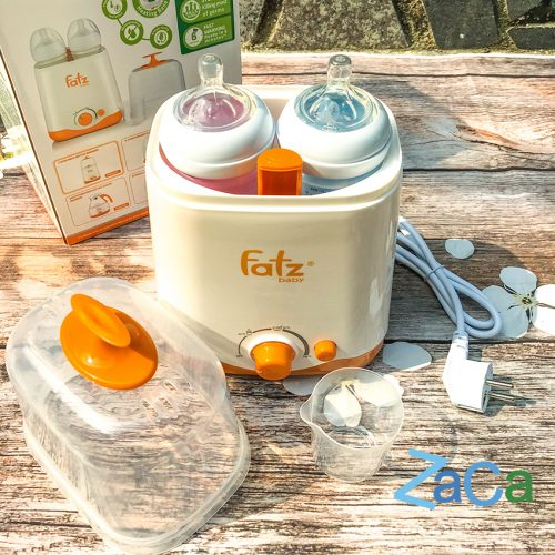 Máy hâm và tiệt trùng 2 bình sữa cổ rộng đa năng 3012SL Fatzbaby bảo hành 12 tháng chính hãng