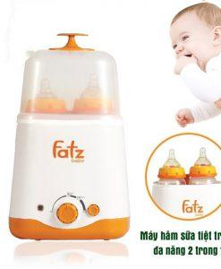 Máy hâm và tiệt trùng 2 bình sữa cổ rộng đa năng 3012SL Fatzbaby