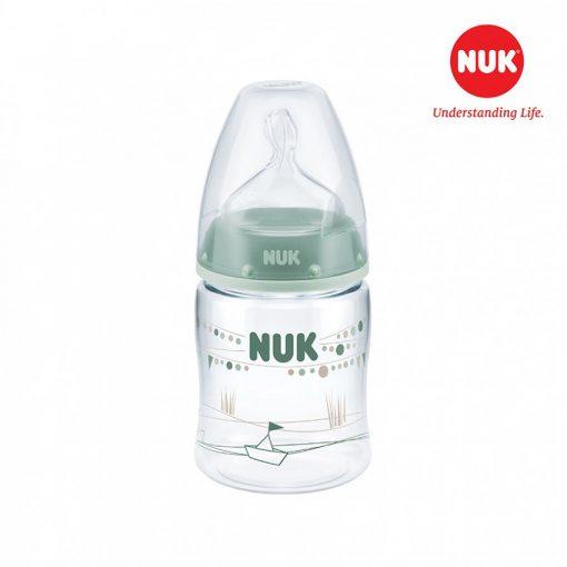 Bình sữa NUK PA 150ml bé 0-6 tháng Xanh lá