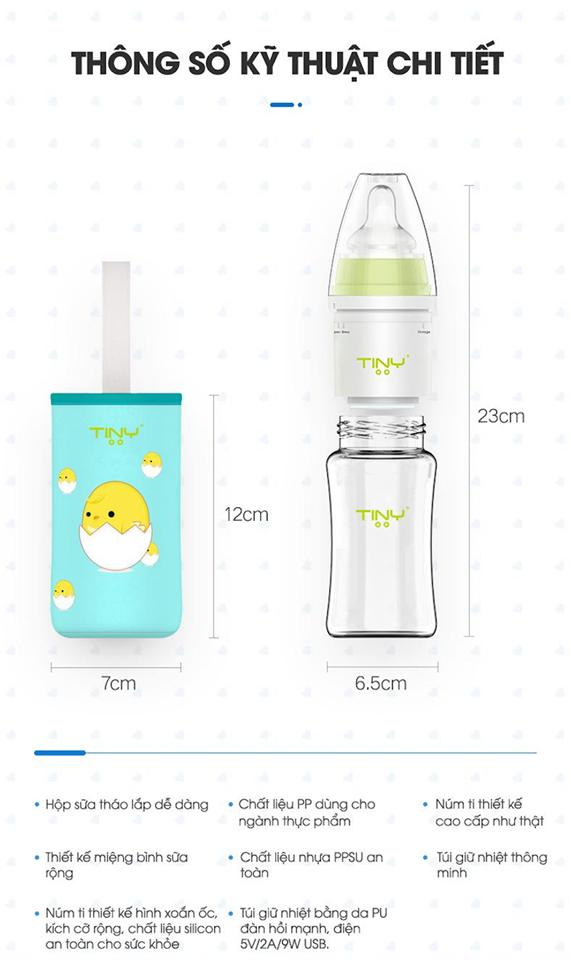 Thông số kỹ Thuật Bình Pha Sữa Tiny Baby