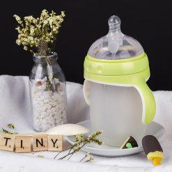 Bình Sữa Silicone Tiny Siêu Mềm Mô Phỏng Ty Mẹ Đa Năng 240ml